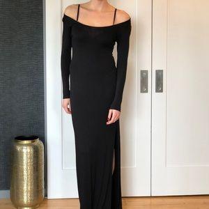 Boho long black dress